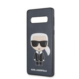 Pouzdro Karl Lagerfeld (KLHCS10IKPUBL) Ikonik Full Body TPU pro Samsung G973F Galaxy S10 modré