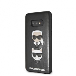 Pouzdro Karl Lagerfeld (KLHCS10LKICKCSBK) Karl and Choupette Hard pro Samsung G970F Galaxy S10e černé