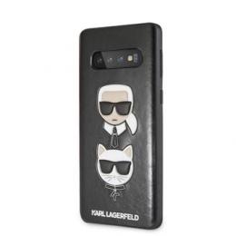 Pouzdro Karl Lagerfeld (KLHCS10PKICKCSBK) Karl and Choupette Hard pro Samsung G975F Galaxy S10+ černé