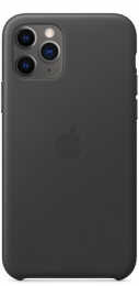 Pouzdro Apple (MWYE2ZM/A) Leather Case pro Apple iPhone 11 Pro Black
