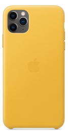 Pouzdro Apple (MX0A2ZM/A) Leather Case pro Apple iPhone 11 Pro Max Meyer Lemon