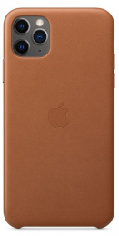 Pouzdro Apple (MX0D2ZM/A) Leather Case pro Apple iPhone 11 Pro Max Saddle Brown