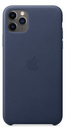 Pouzdro Apple (MX0G2ZM/A) Leather Case pro Apple iPhone 11 Pro Max Midnight Blue
