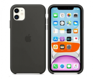 Pouzdro Apple (MWVU2ZM/A) Silicone Case pro Apple iPhone 11 Black