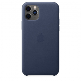 Pouzdro Apple (MWYG2ZM/A) Leather Case pro Apple iPhone 11 Pro Midnight Blue