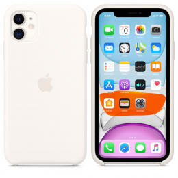Pouzdro Apple (MWVX2ZM/A) Silicone Case pro Apple iPhone 11 White