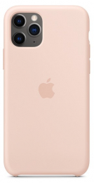 Pouzdro Apple (MWYM2ZM/A) Silicone Case pro Apple iPhone 11 Pro Pink Sand