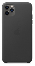 Pouzdro Apple (MX0E2ZM/A) Leather Case pro Apple iPhone 11 Pro Max Black