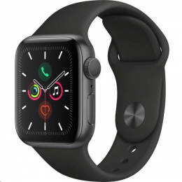 Apple Watch (MWV82HC/A) Series 5 40mm šedé s černým řemínkem