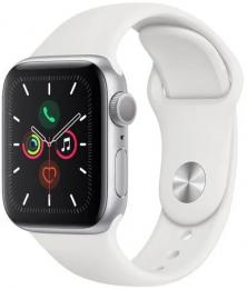 Apple Watch (MWV62HC/A) Series 5 40mm stříbrné s bílým řemínkem