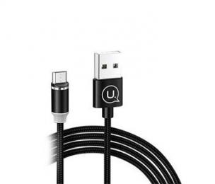 Datový kabel USAMS SJ294 U-Sure magnetický MicroUSB černý