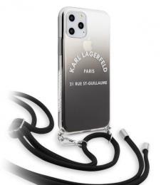 Pouzdro Karl Lagerfeld (KLHCN58WOGRBK) Gradient pro Apple iPhone 11 Pro černé