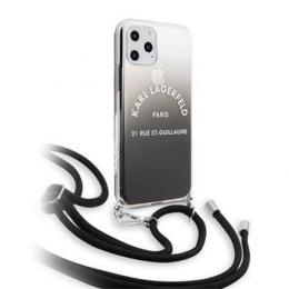 Pouzdro Karl Lagerfeld (KLHCN61WOGRBK) Gradient pro Apple iPhone 11 černé