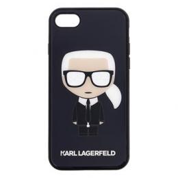 Pouzdro Karl Lagerfeld (KLHCI8DLFKBK) Iconic Full Body Glitter pro Apple iPhone 7/8 Black