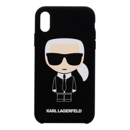 Pouzdro Karl Lagerfeld (KLHCI8SLFKBK) Full Body Ssilicone pro Apple iPhone 7/8 Black