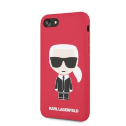 Pouzdro Karl Lagerfeld (KLHCI8SLFKRE) Full Body Silicone pro Apple iPhone 7/8 Red