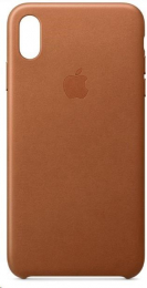 Pouzdro Apple (MWYN2ZM/A) Leather Case pro Apple iPhone Xs MAX Saddle Brown