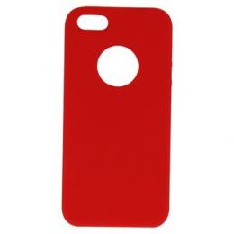 Pouzdro Swissten Liquid (s výřezem na logo) pro Apple iPhone 5/5S/SE červené