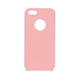 Pouzdro Swissten Liquid (s výřezem na logo) pro Apple iPhone 5/5S/SE růžové
