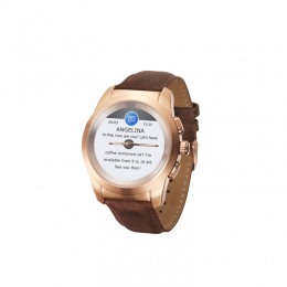 MyKronoz ZeTime Premium 44mm Pink Gold Brown