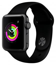 Apple Watch Series 3 38mm šedé + černý řemínek