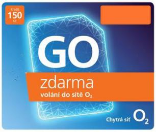 O2 SIM karta 150 Kč Go Karta
