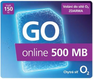 O2 SIM karta 150 Kč Go Karta Online