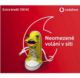 Vodafone SIM karta 150 Kč kredit předplacená na volání