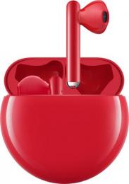 Bezdrátová sluchátka Huawei FreeBuds 3 červená