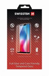 Swissten Tvrzené sklo Full Glue Case Friendly pro Apple iPhone 11 Pro černé