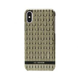Pouzdro SoSeven (SSBKC0007) Fashion Paris pro Apple iPhone X/Xs černo zlaté