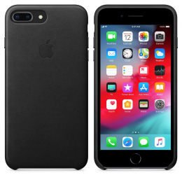 Pouzdro Apple Leather Case pro Apple iPhone 7/8 Plus Black