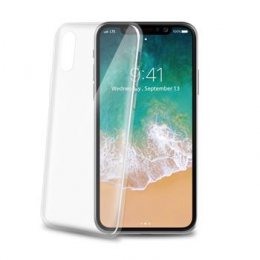 Pouzdro Celly (THIN900WH) UltraThin pro Apple iPhone X/Xs bílé