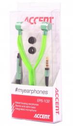 Stereo sluchátka Accent EPS-102 s mikrofonem zelená