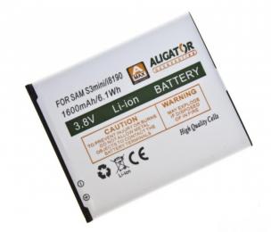 Baterie Aligator pro Samsung i8910 Galaxy S3 Mini (nahrazuje EB-F1M7FLU) 1600 mAh
