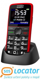Aligator A675 Senior Dual SIM Red