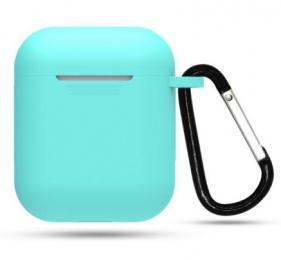 Silikonové pouzdro s karabinou pro Apple Airpods a Airpods 2019 mátové
