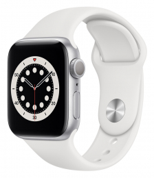 Apple Watch (M00D3HC/A) Series 6 44mm Silver White
