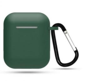 Silikonové pouzdro s karabinou pro Apple Airpods a Airpods 2019 zelené