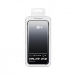 Pouzdro Samsung EF-AJ415CBE Gradation Clear pro Samsung J415F Galaxy J4 Plus Clear Black