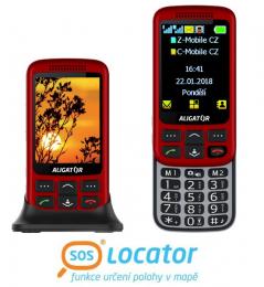Aligator VS900 Senior Red Silver