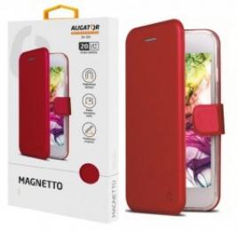 Pouzdro Aligator Magnetto pro Samsung Galaxy M21 červené