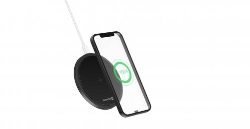 Bezdrátová nabíječka Swissten Wireless 15W černá