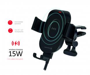 Držák do auta Swissten S-GRIP GW1-AV5 s bezdrátovým nabíjením 15W černý