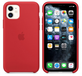 Pouzdro Apple (MWY1RFE/A) Silicone Case pro Apple iPhone 11 Product RED