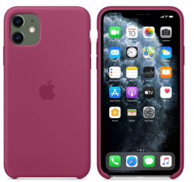 Pouzdro Apple (MWVZ2FE/A) Silicone Case pro Apple iPhone 11 Pomegranate