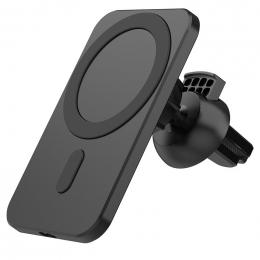 Držák do ventilační mřížky auta s podporou MagSafe a Qi bezdrátového nabíjení černý