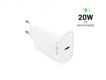 Nabíječka FIXED s USB-C a podporou PD 20W bílá