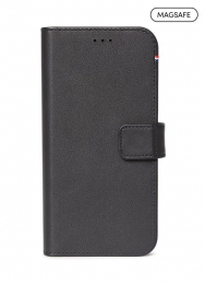 Pouzdro Decoded (D21IPO61DW4BK) Leather 2v1 Wallet pro Apple iPhone 12 a iPhone 12 Pro černé