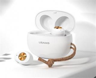 Bezdrátová sluchátka USAMS ES TWS Fashion bílá